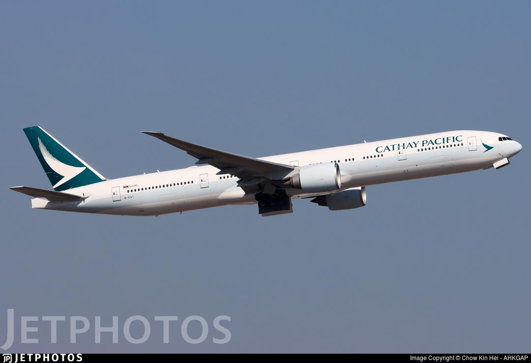 B-KQT - Boeing 777-367ER - Cathay Pacific Airways