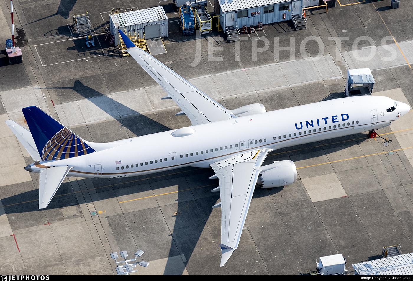 N1800B - Boeing 737-9 MAX - United Airlines