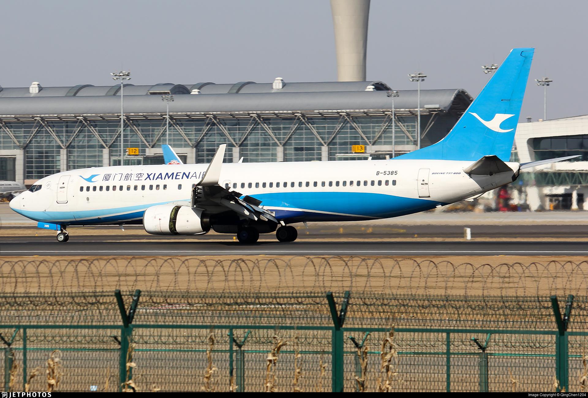 B-5385 - Boeing 737-86N - Xiamen Airlines