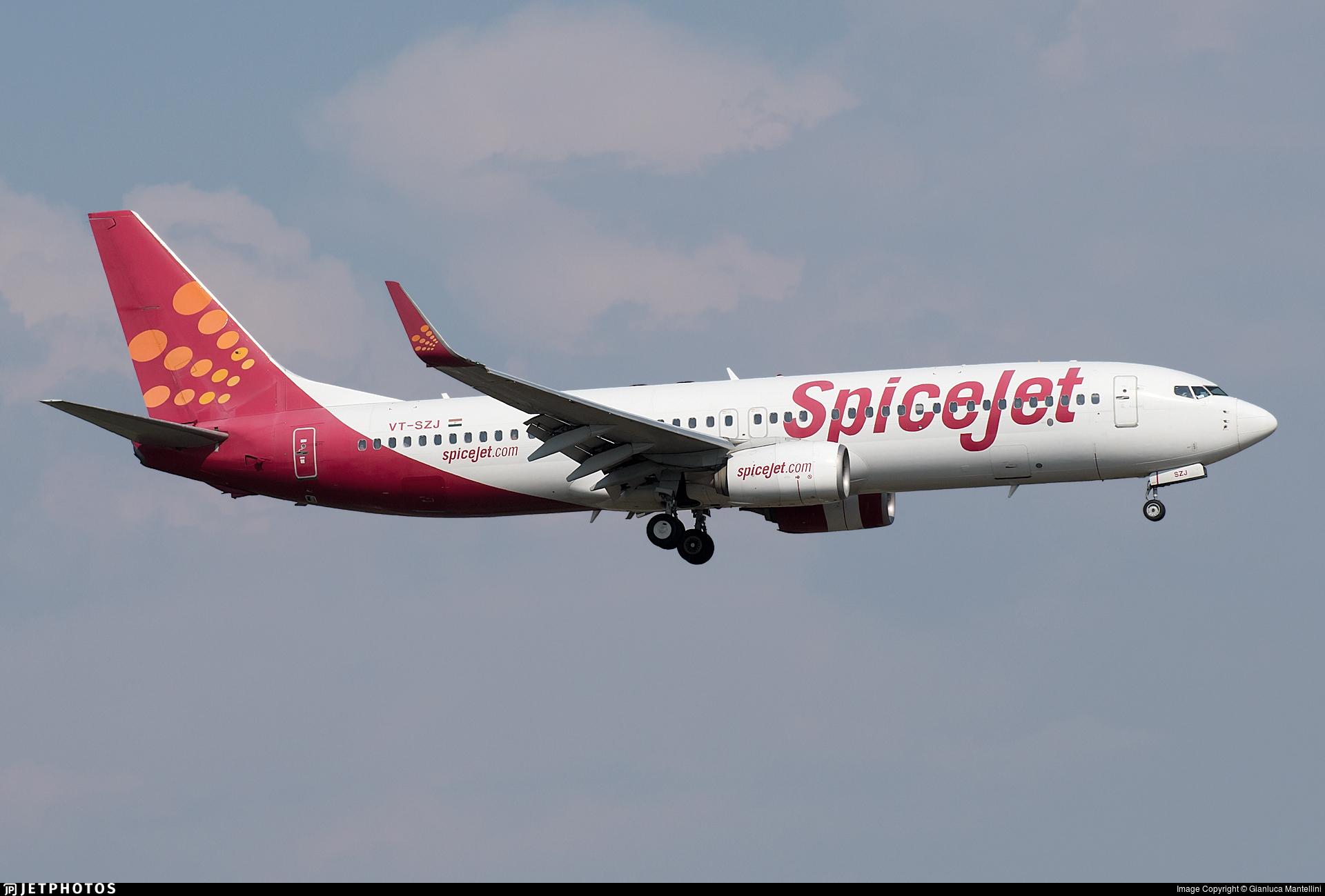 VT-SZJ - Boeing 737-8GJ - SpiceJet
