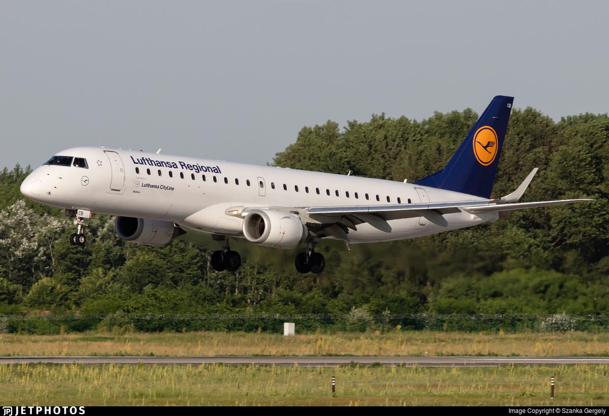 D-AECB - Embraer 190-100LR - Lufthansa Regional (CityLine)