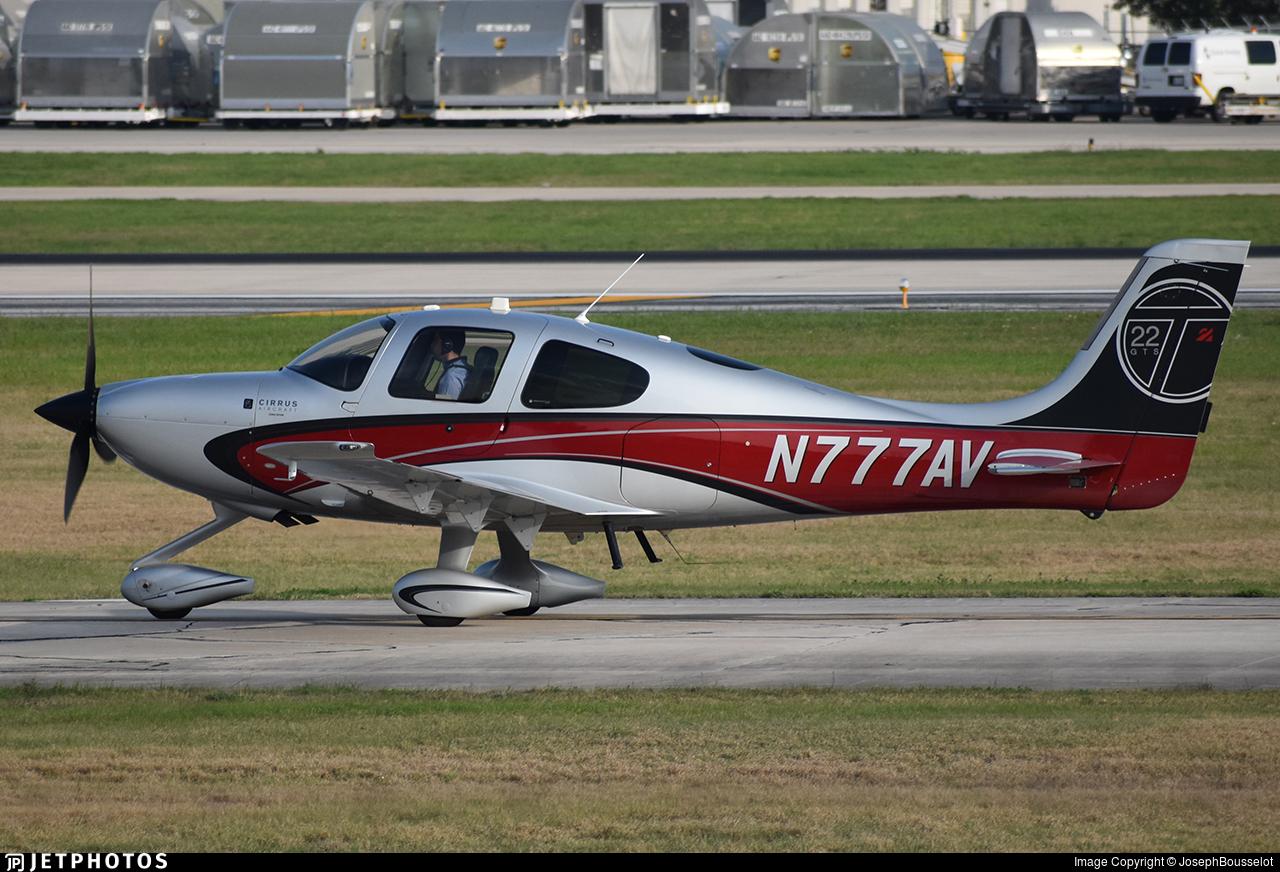 N777AV - Cirrus SR22T-GTS - Private