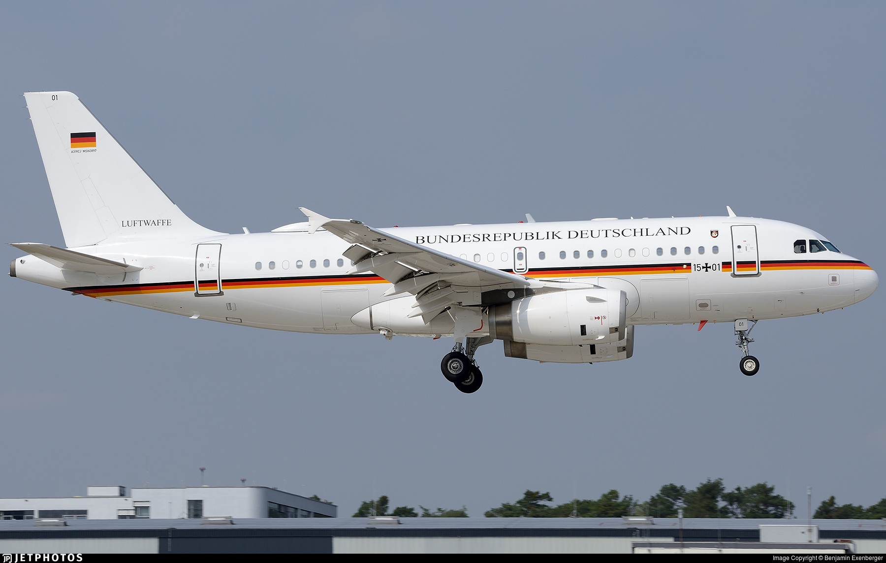 15-01 - Airbus A319-133(CJ) - Germany - Air Force