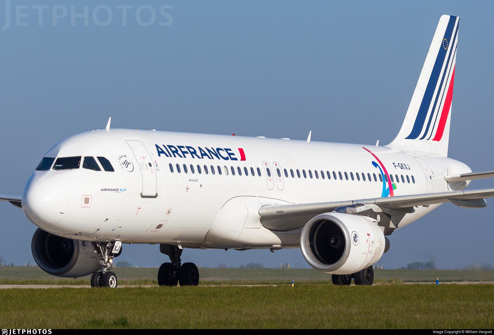 F gkxj airbus a320 214 air france william verguet for Airbus a320 air france interieur