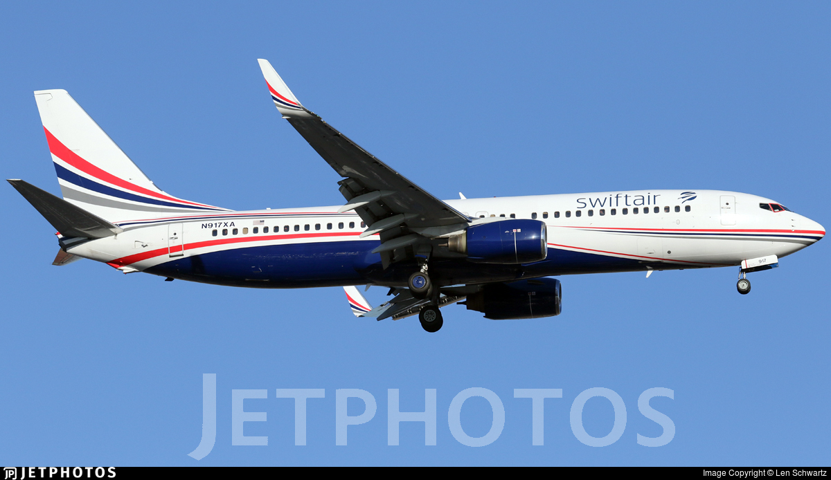 N917XA - Boeing 737-86J - Swift Air