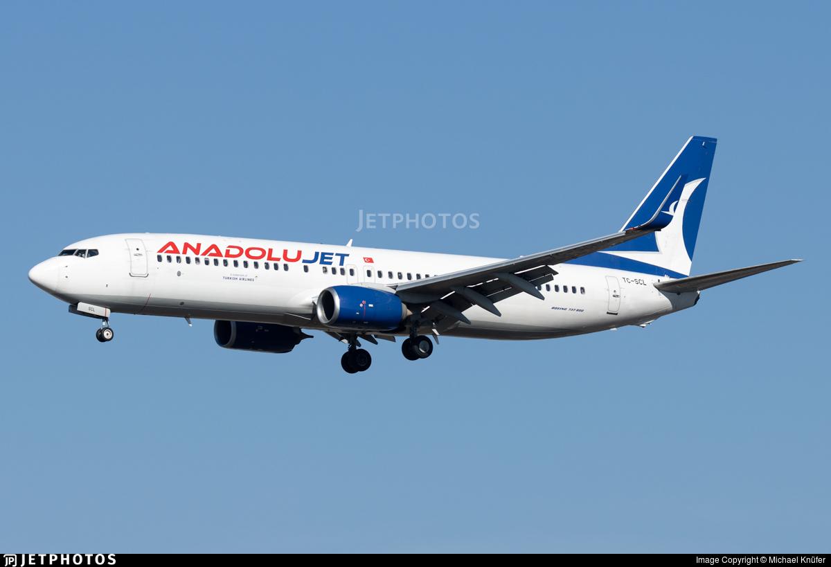 TC-SCL - Boeing 737-8GJ - AnadoluJet