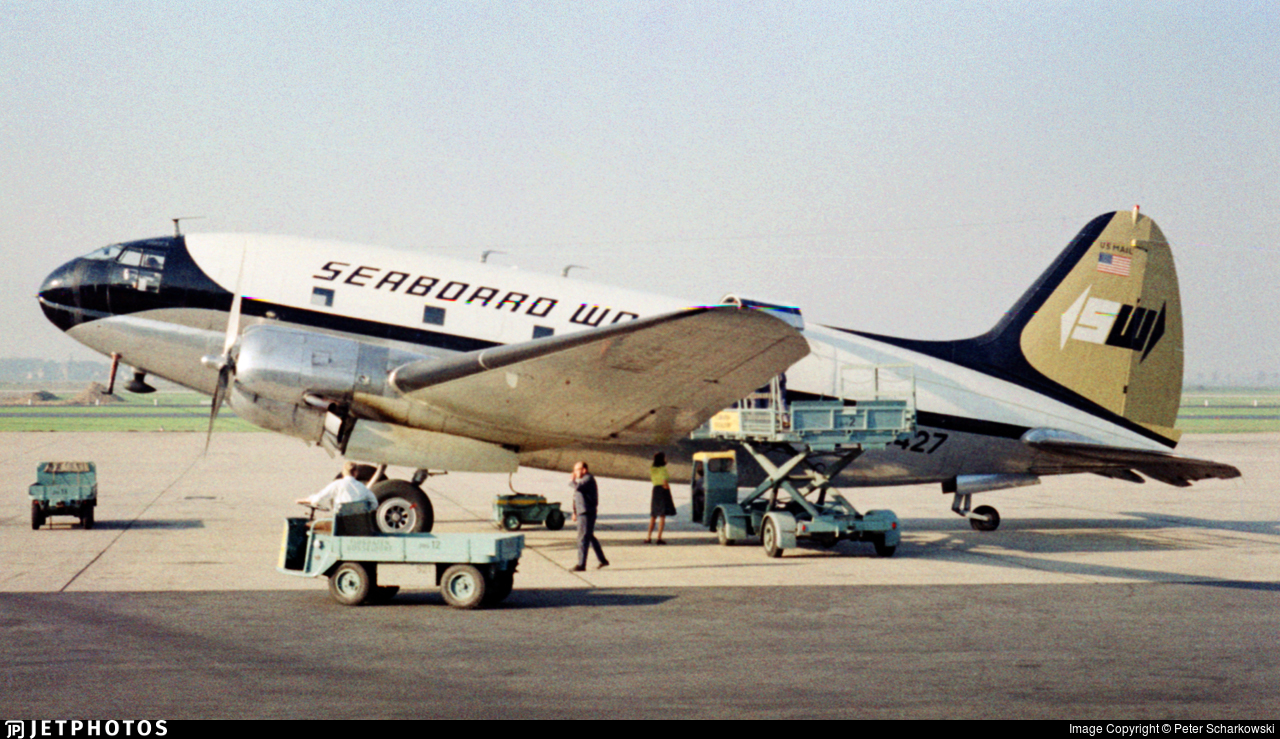 N10427 - Curtiss C-46 Commando - Seaboard World Airlines