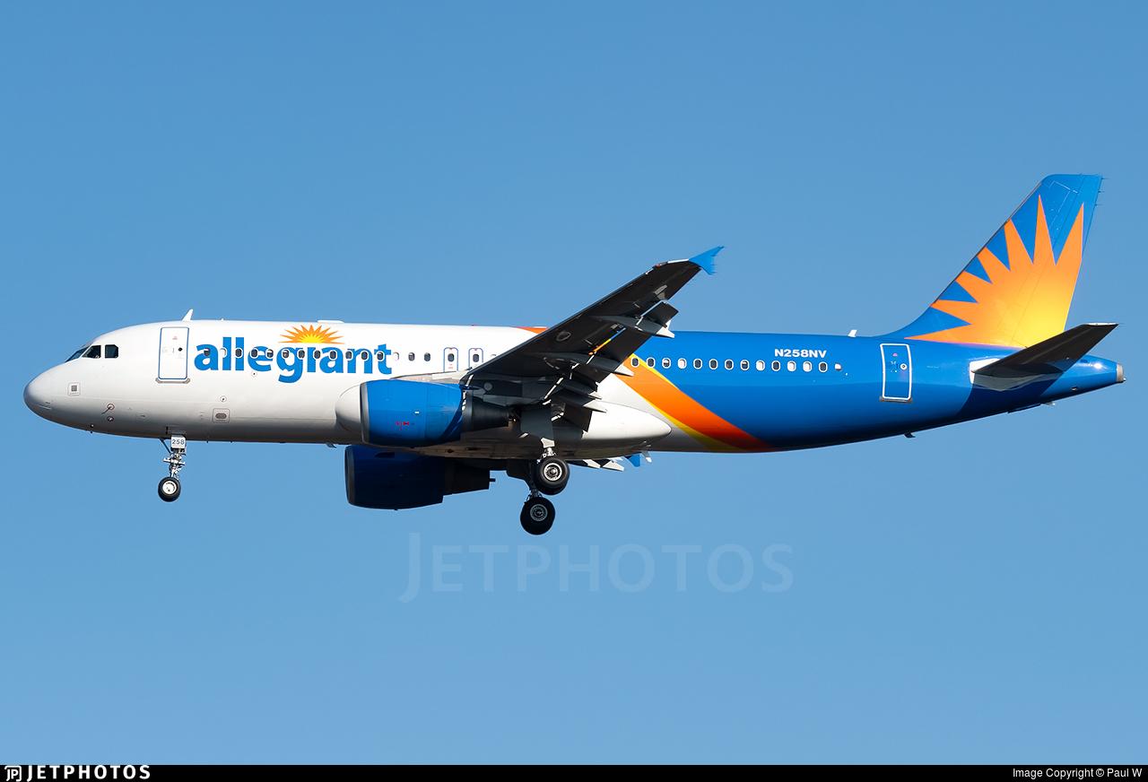 N258NV - Airbus A320-214 - Allegiant Air