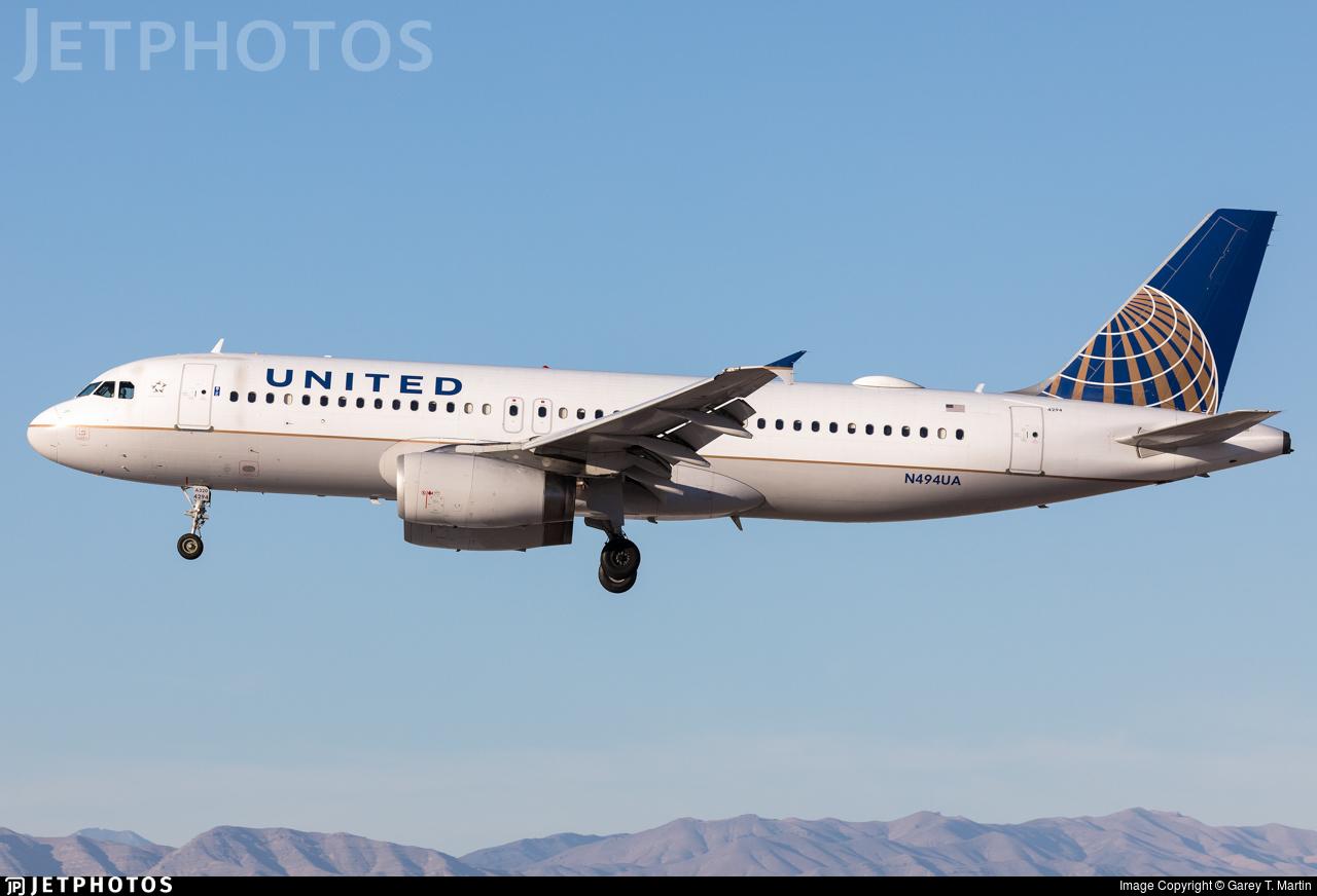 N494UA - Airbus A320-232 - United Airlines