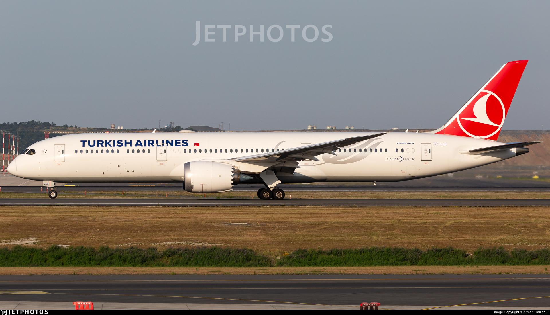 TC-LLE - Boeing 787-9 Dreamliner - Turkish Airlines