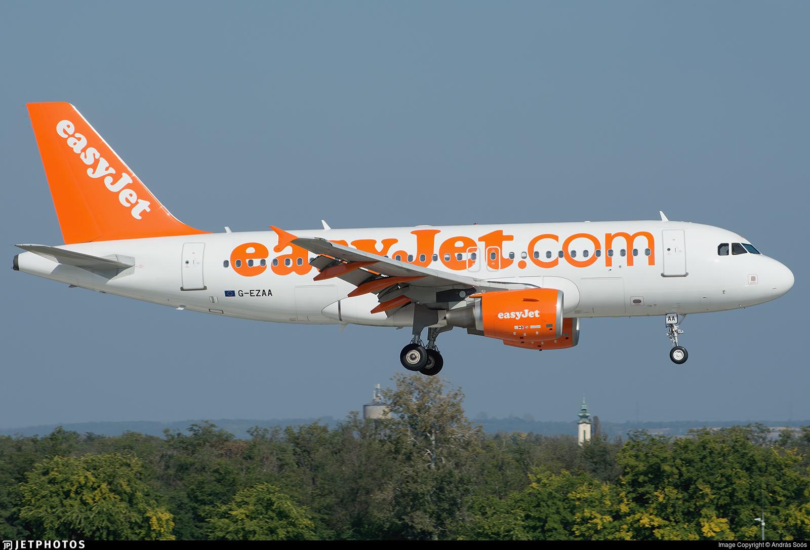 G-EZAA - Airbus A319-111 - easyJet