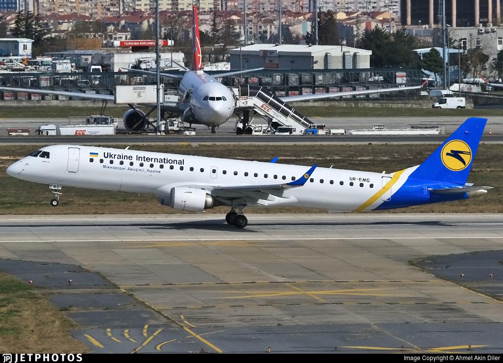 UR-EMG - Embraer 190-200LR - Ukraine International Airlines