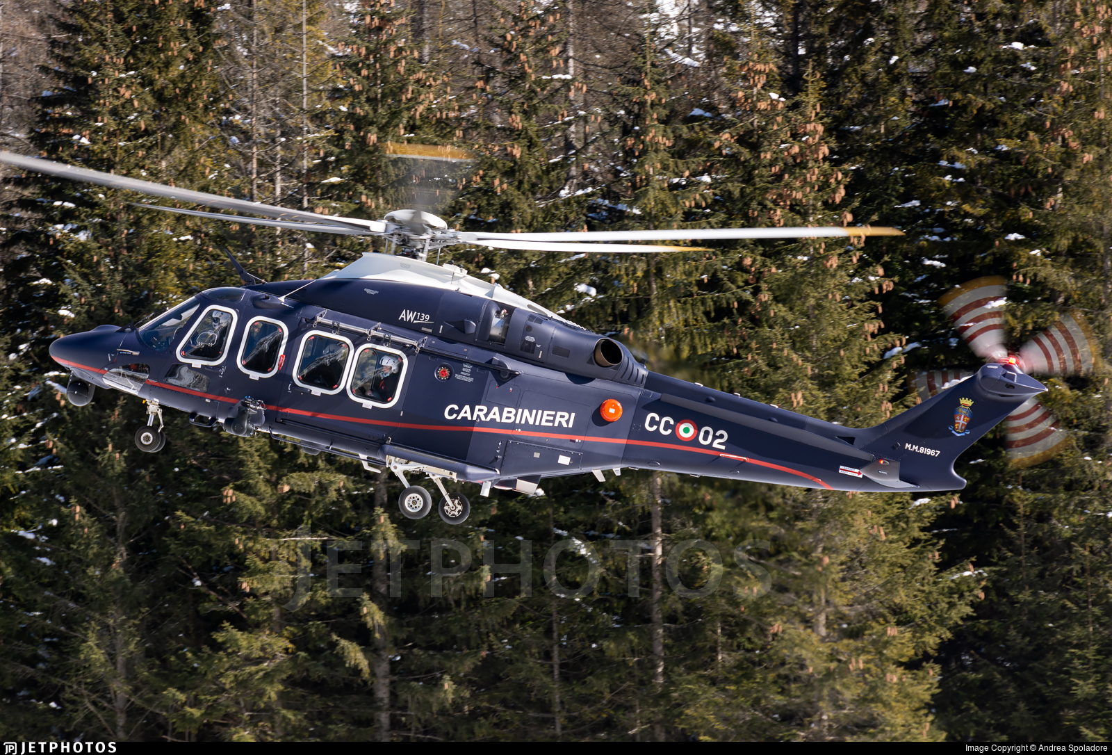MM81967 - Agusta-Westland AW-139 - Italy - Arma dei Carabinieri
