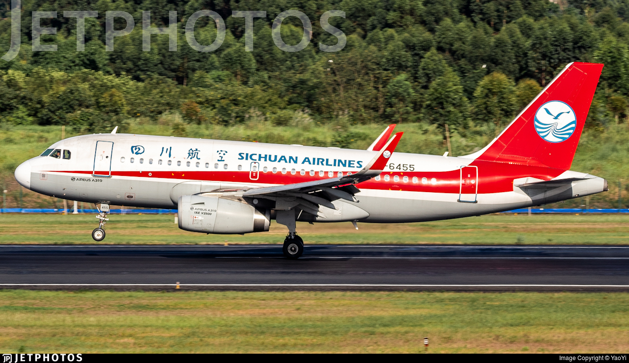 B-6455 - Airbus A319-133 - Sichuan Airlines