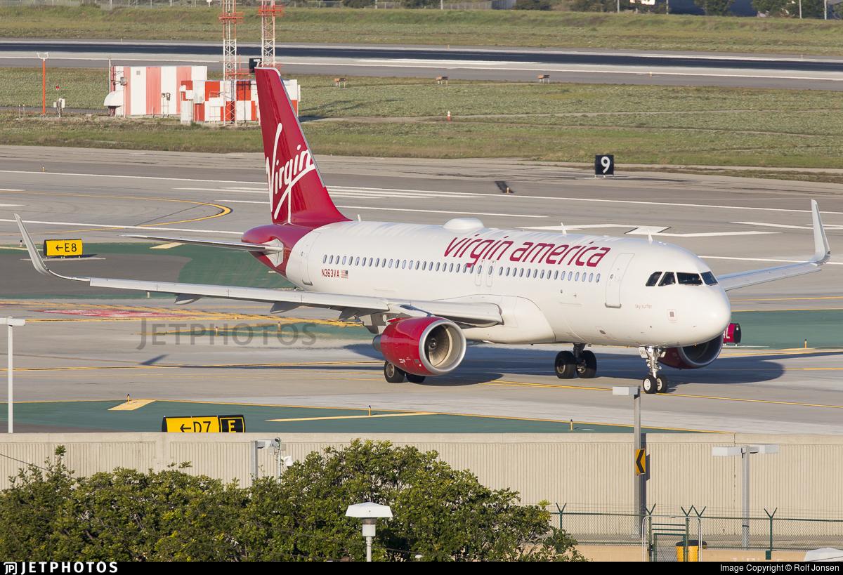 N363VA - Airbus A320-214 - Virgin America