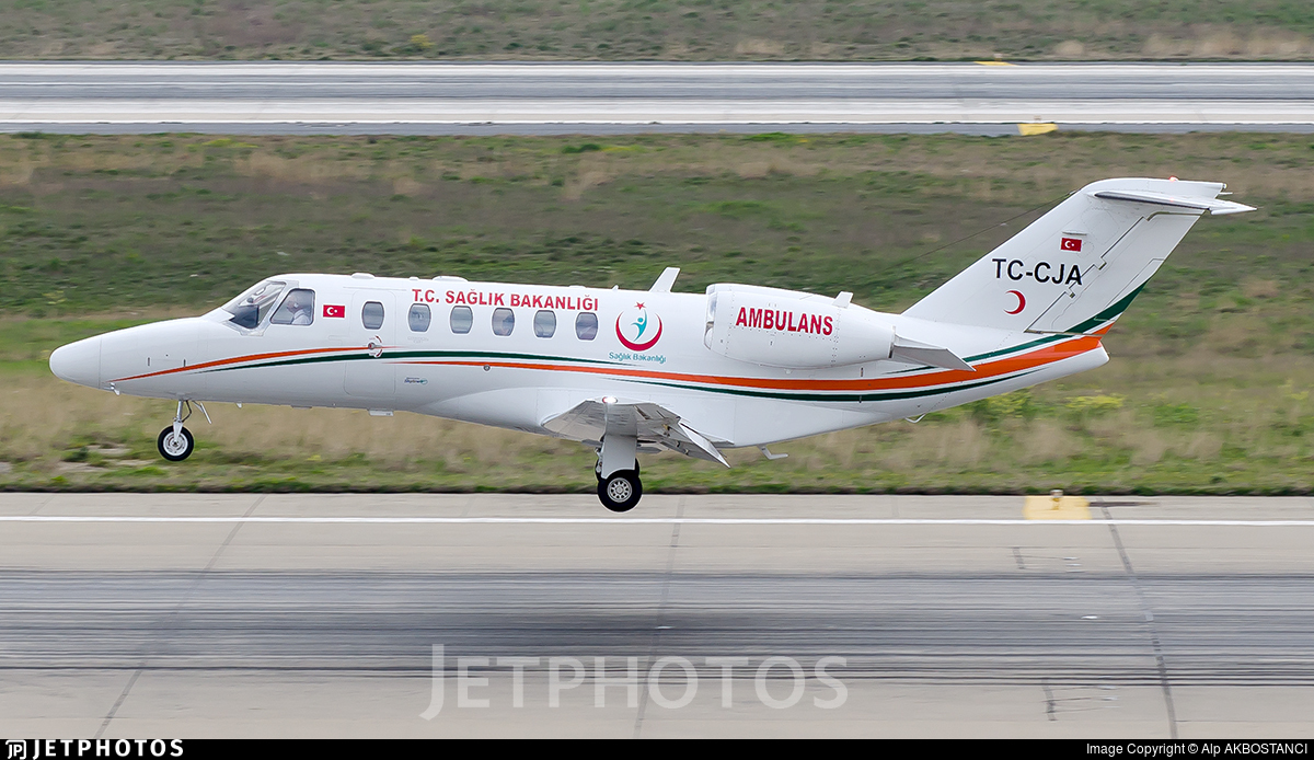 TC-CJA - Cessna 525A CitationJet CJ2 - Turkey - Ministry of Health