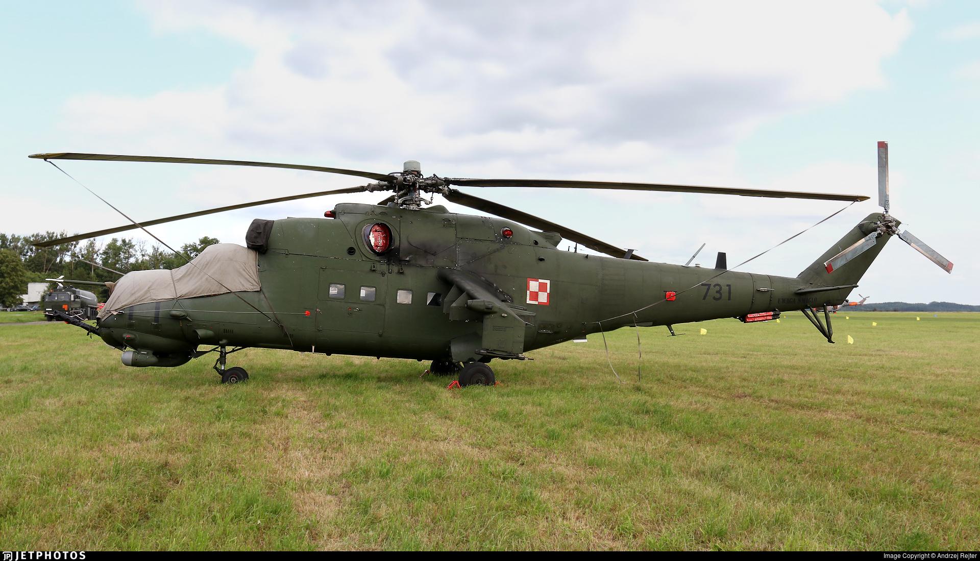 731 - Mil Mi-24V Hind E - Poland - Army