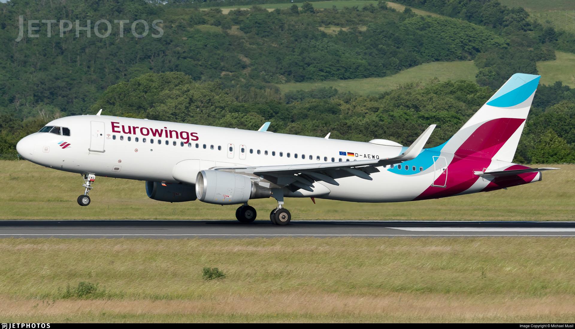 D-AEWQ - Airbus A320-214 - Eurowings