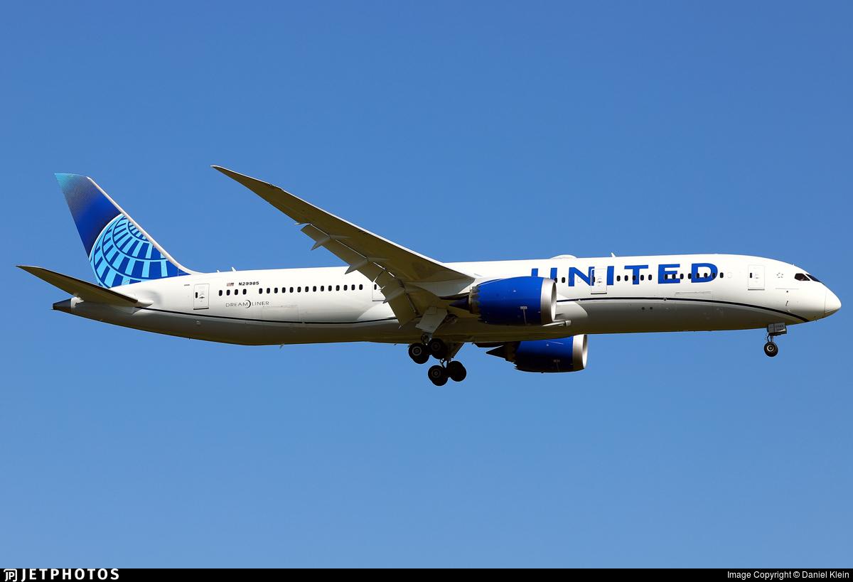 N29985 - Boeing 787-9 Dreamliner - United Airlines