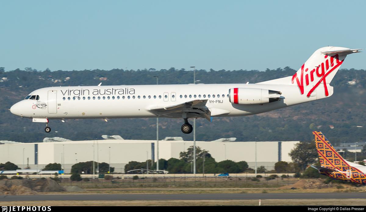 Vh Fnj Fokker 100 Virgin Australia Regional Airlines Dallas