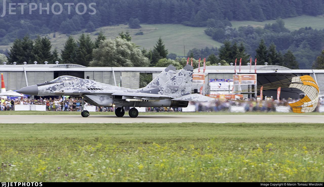 0619 - Mikoyan-Gurevich MiG-29AS Fulcrum A - Slovakia - Air Force