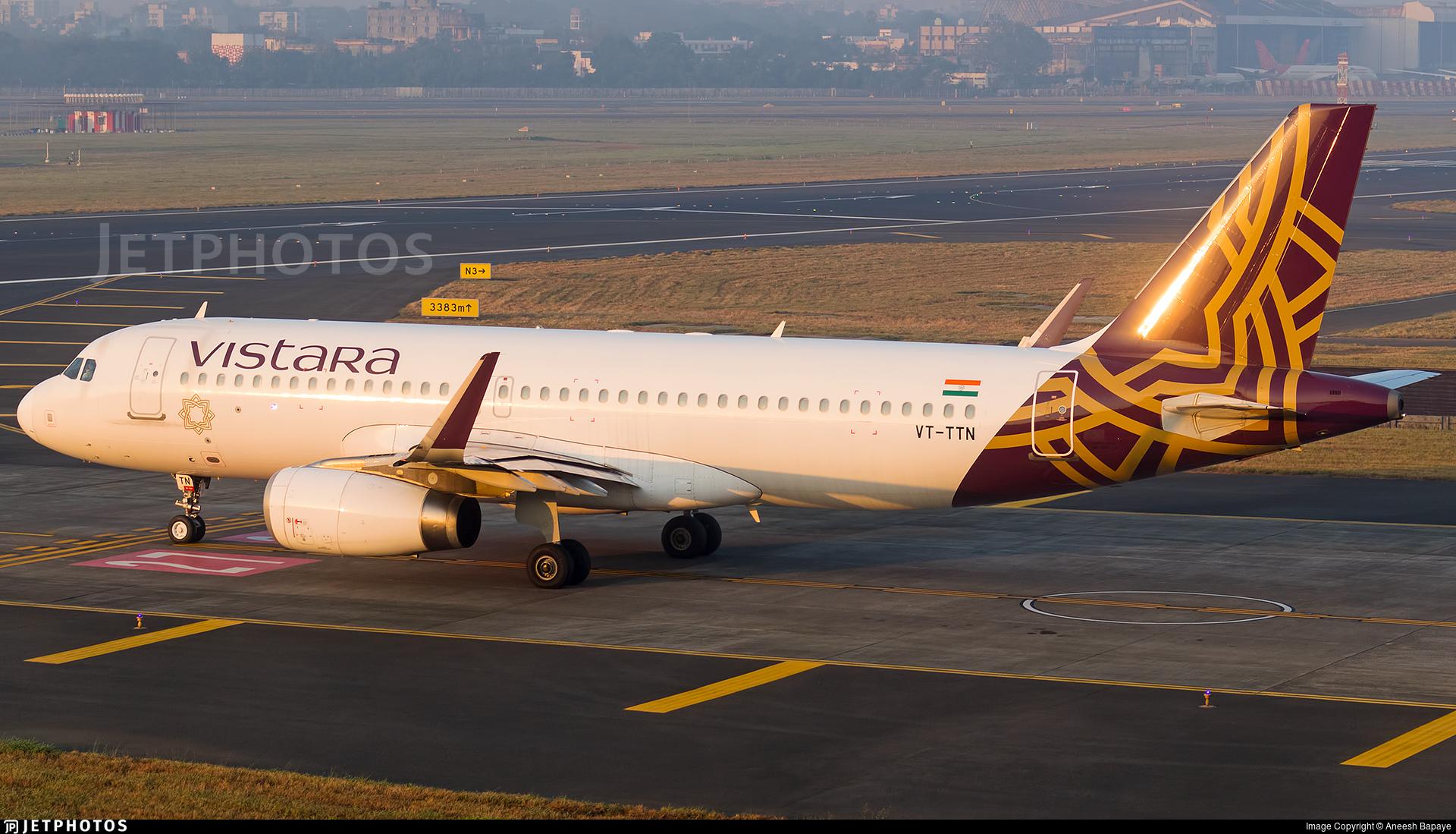 VT-TTN - Airbus A320-232 - Vistara