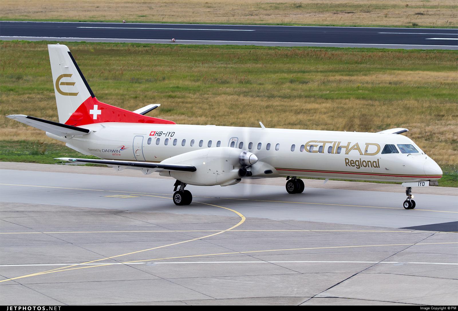 HB-IYD - Saab 2000 - Etihad Regional (Darwin Airline)