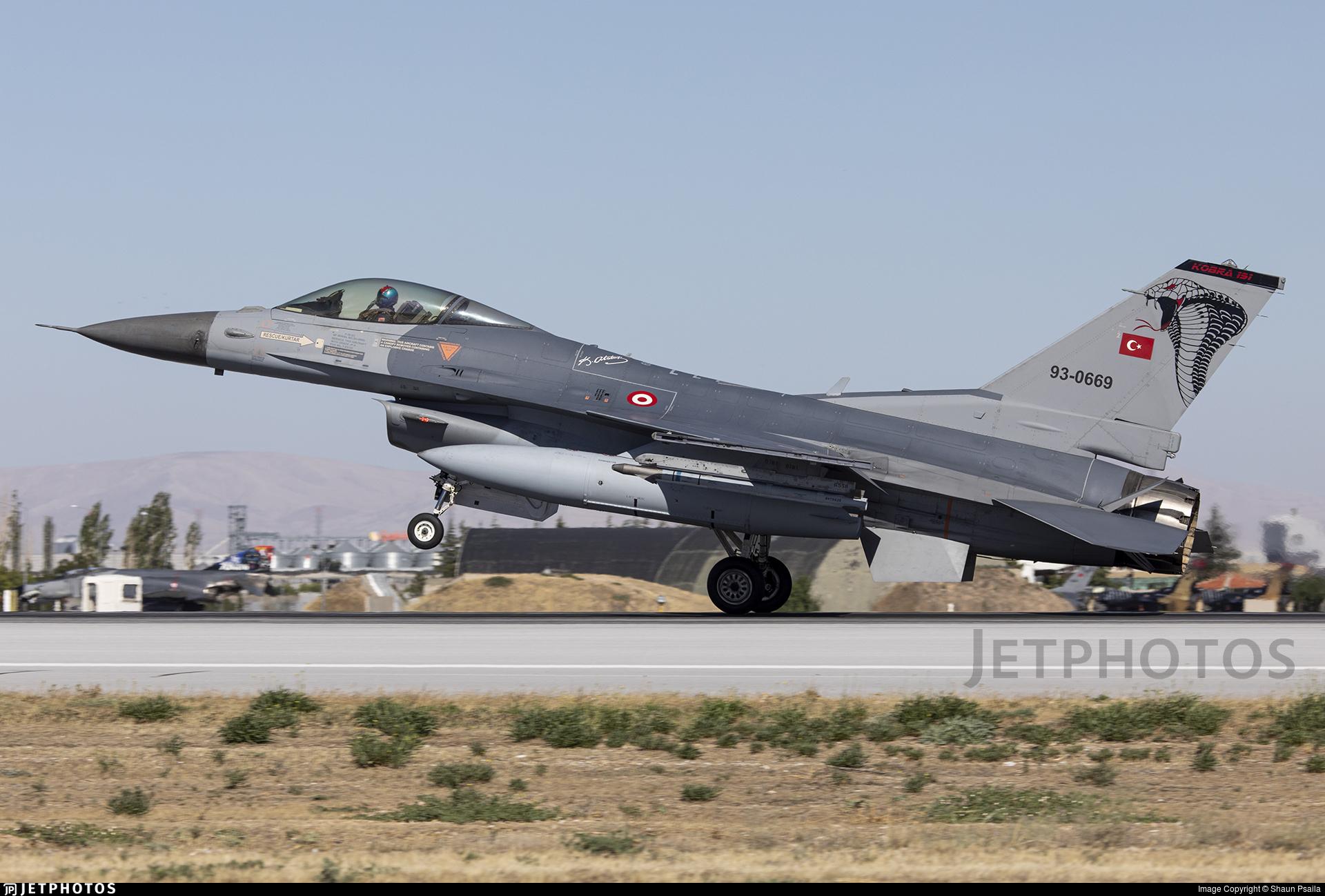 93-0669 - General Dynamics F-16C Fighting Falcon - Turkey - Air Force