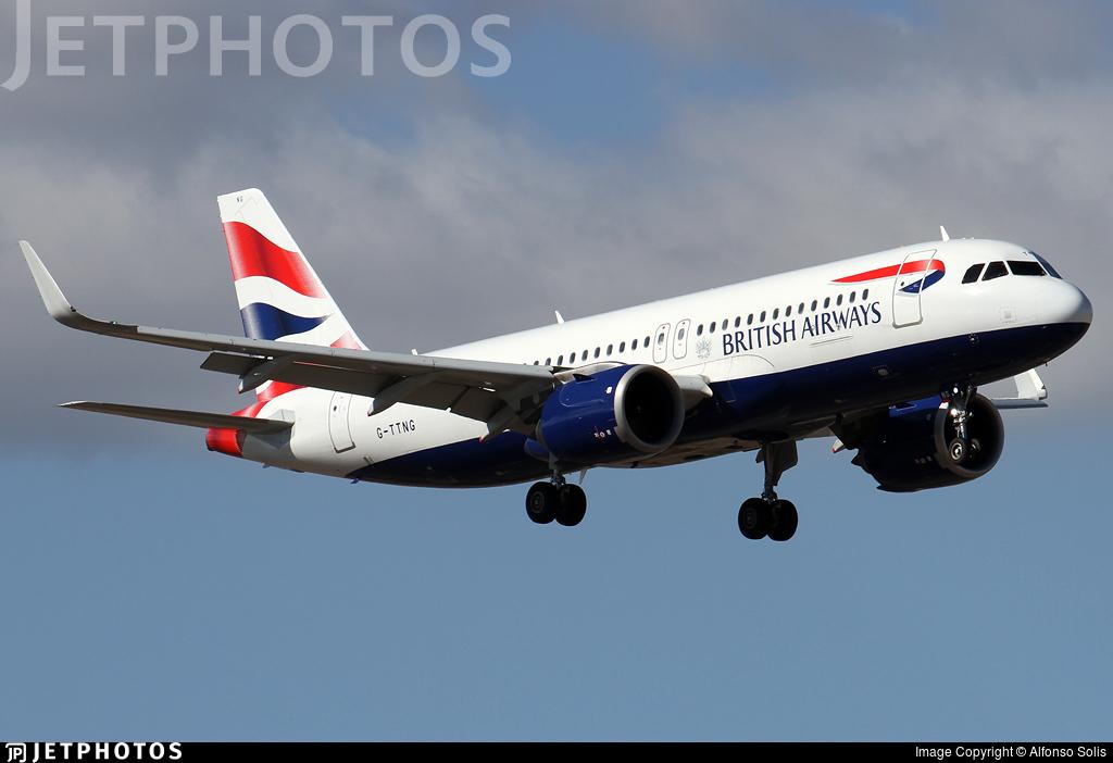 G-TTNG - Airbus A320-251N - British Airways