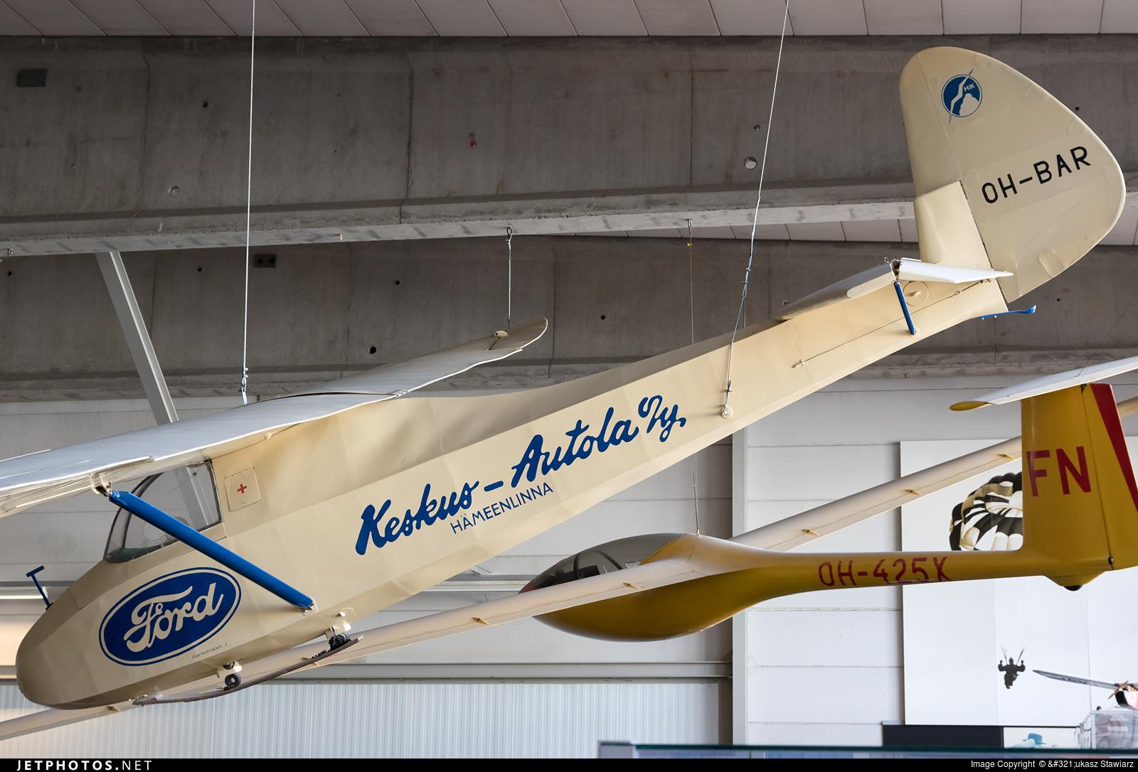 OH-BAR - Gliding Aircraft Grunau Baby IIb - Private