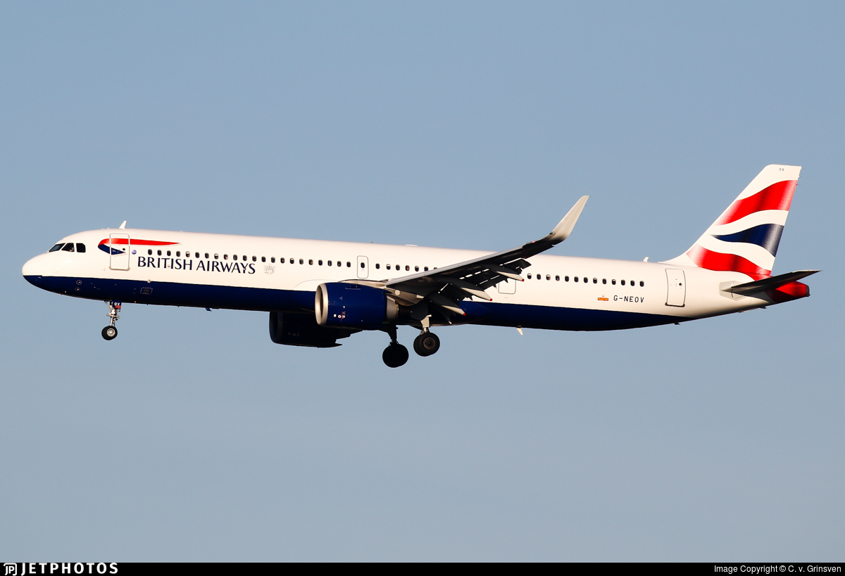 G-NEOV - Airbus A321-251NX - British Airways