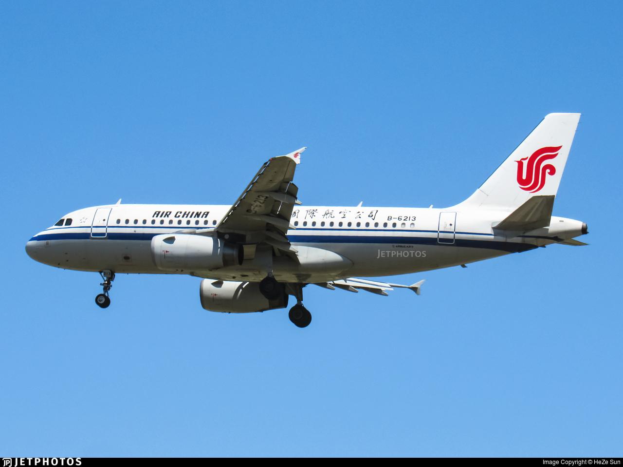 B-6213 - Airbus A319-132 - Air China