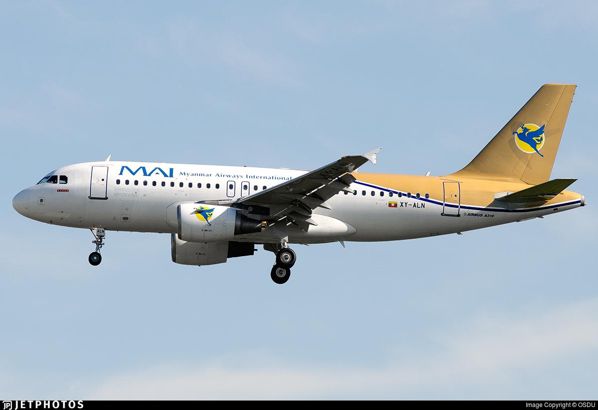 XY-ALN - Airbus A319-112 - Myanmar Airways International (MAI)
