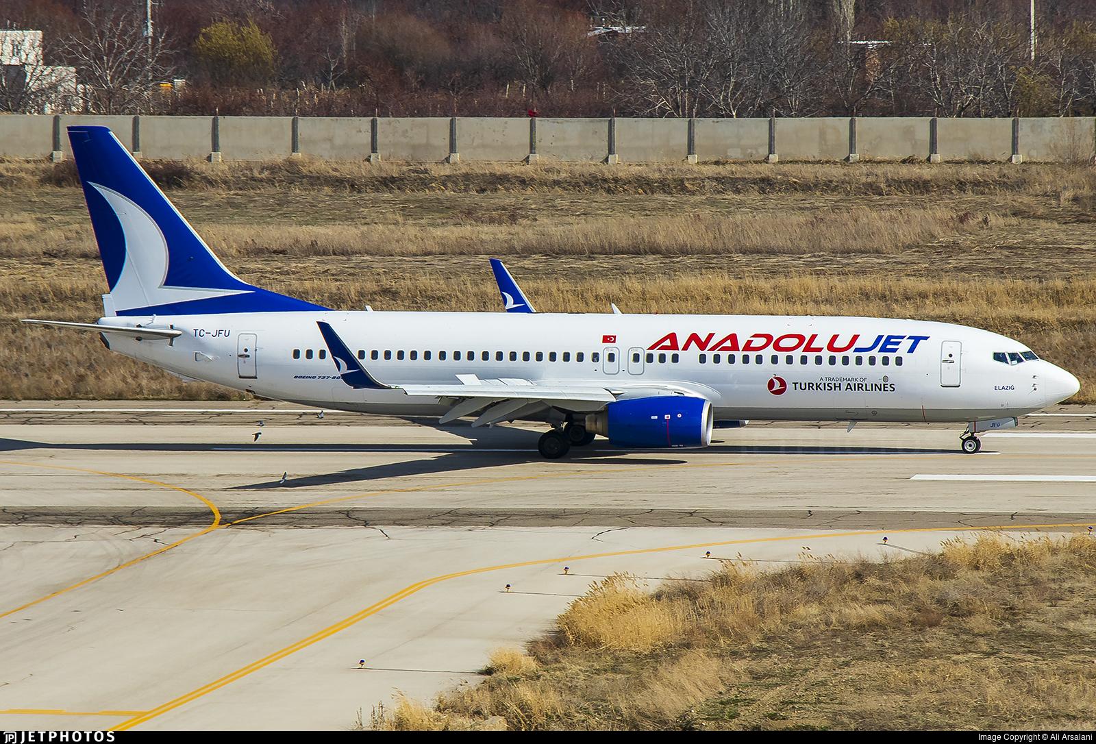 TC-JFU - Boeing 737-8F2 - AnadoluJet