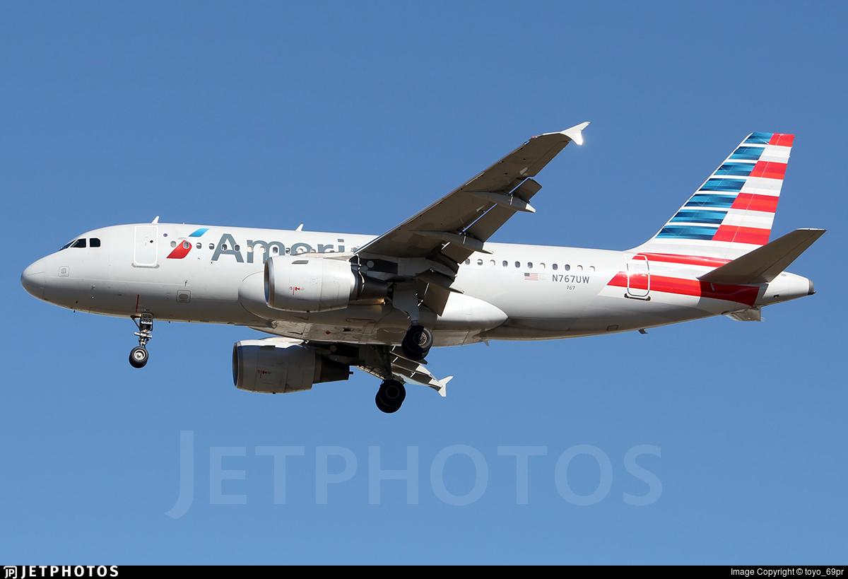 N767UW - Airbus A319-112 - American Airlines
