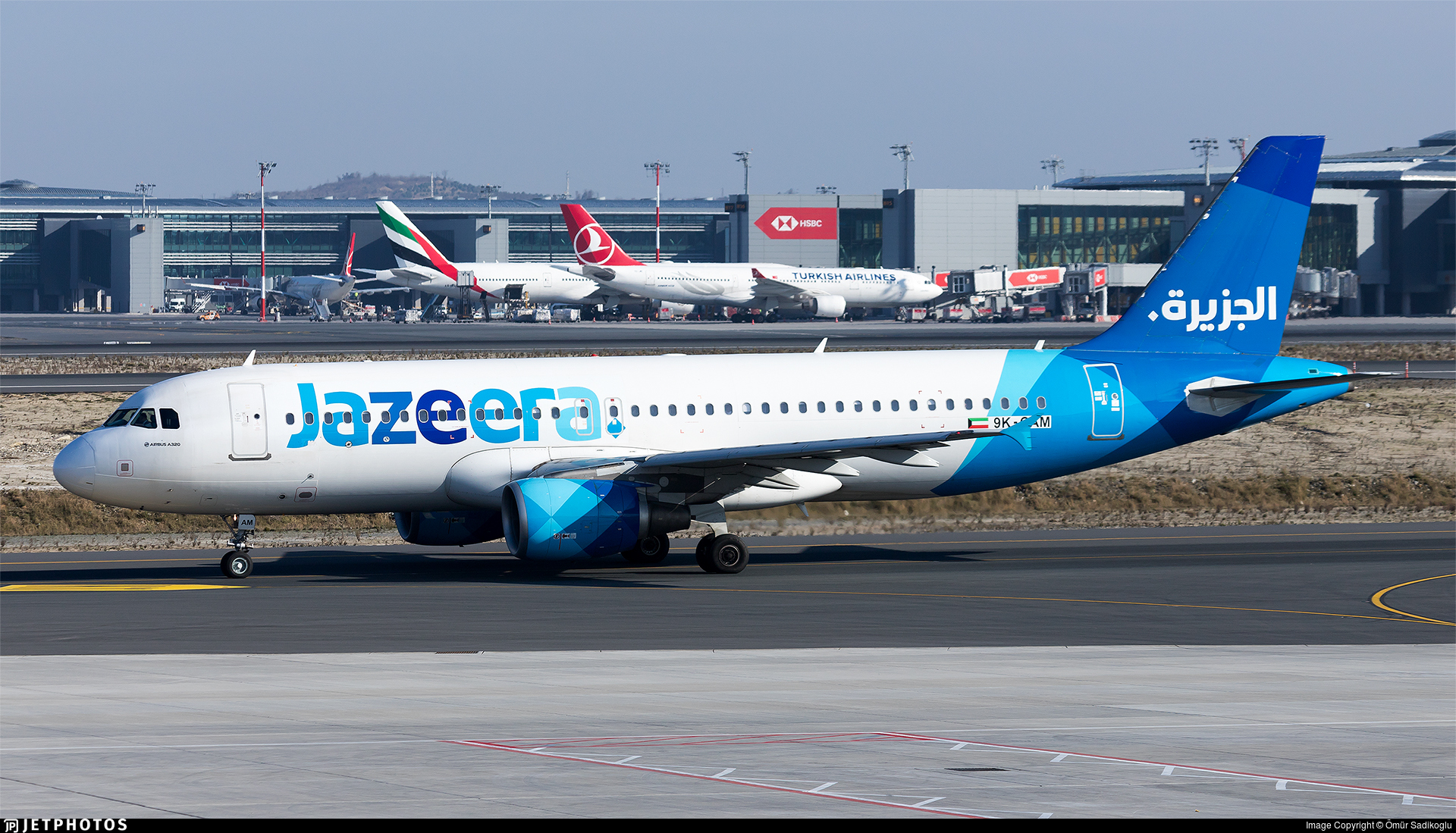 9K-CAM - Airbus A320-214 - Jazeera Airways