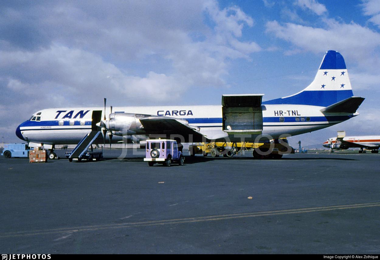 HR-TNL - Lockheed L-188C(F) Electra  - Tan Sahsa