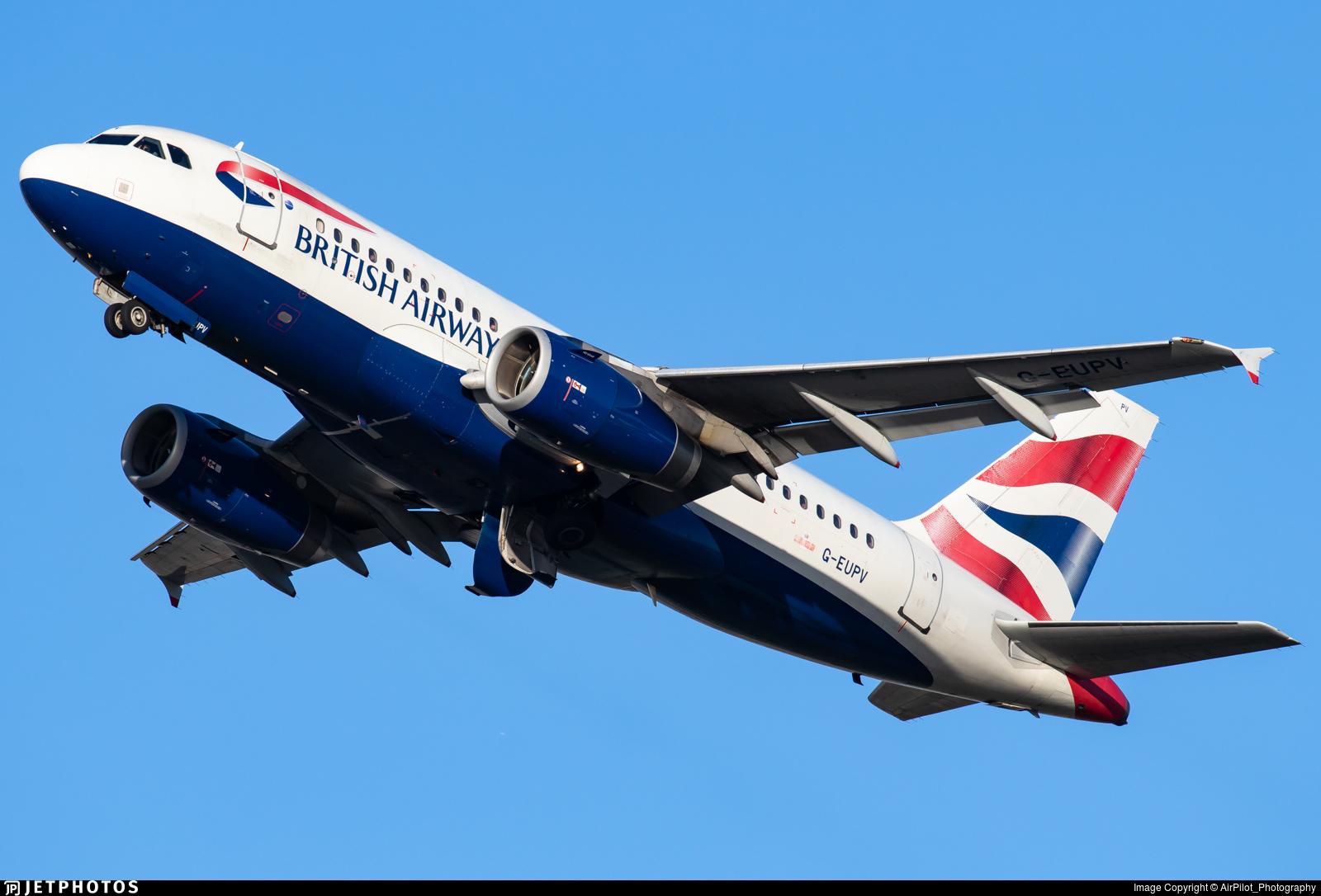 G-EUPV - Airbus A319-131 - British Airways