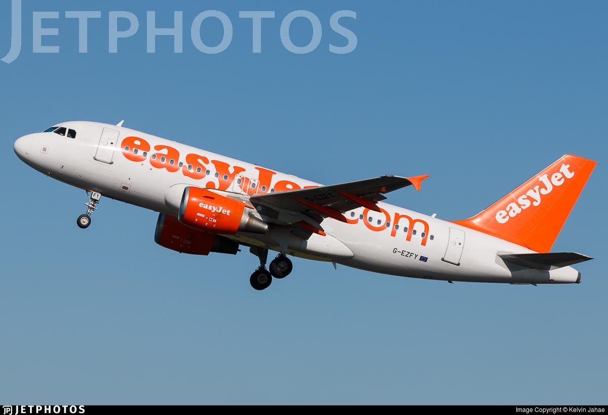 G-EZFY - Airbus A319-111 - easyJet