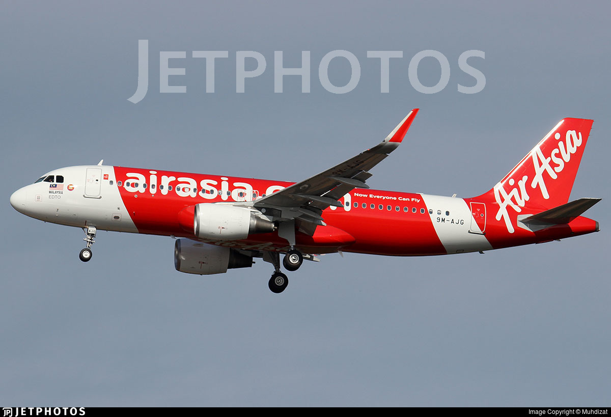 9M-AJG - Airbus A320-216 - AirAsia