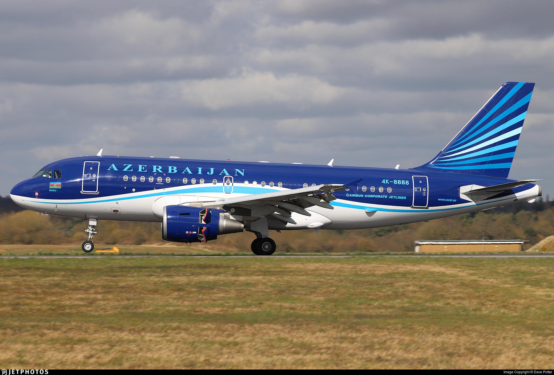 4K-8888 - Airbus A319-115X(CJ) - Azerbaijan - Government