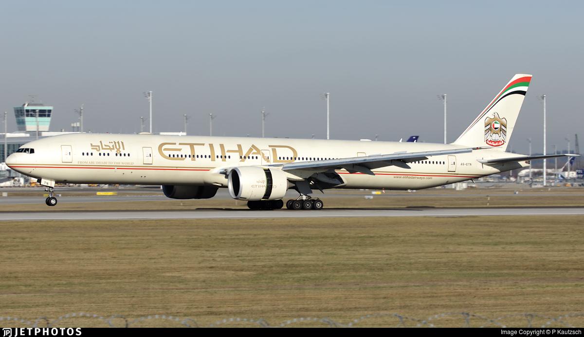 A6-ETN - Boeing 777-3FXER - Etihad Airways