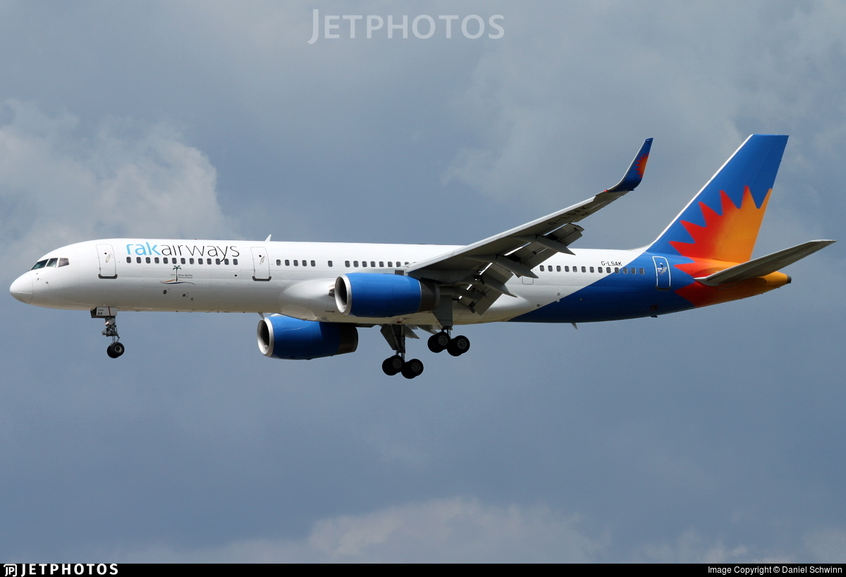 G-LSAK - Boeing 757-23N - RAK Airways (Jet2.com)