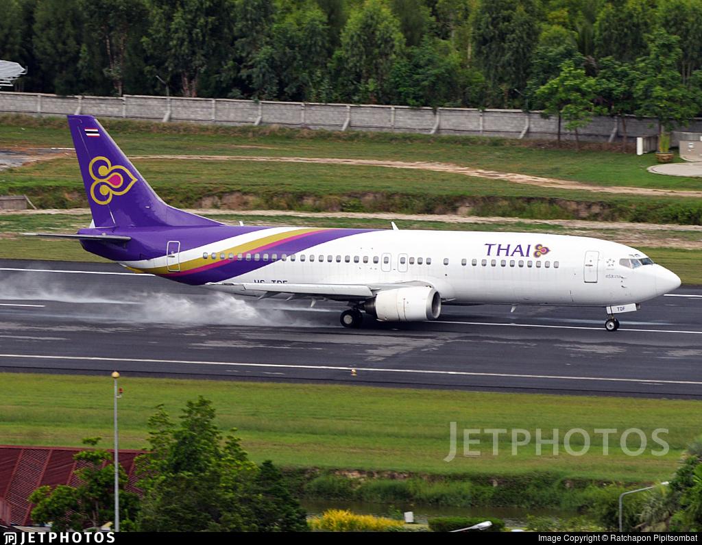 HS-TDF - Boeing 737-4D7 - Thai Airways International