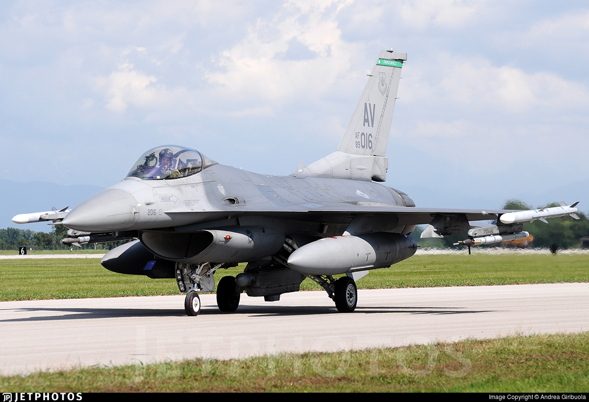 89-2016 - General Dynamics F-16C Fighting Falcon - United States - US Air Force (USAF)