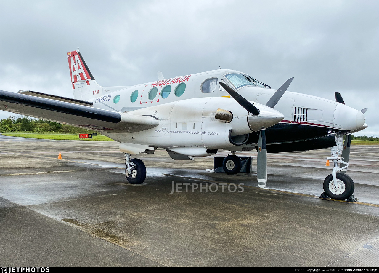 HK-5279 - Beechcraft E90 King Air - Ambulancias Aereas de Colombia