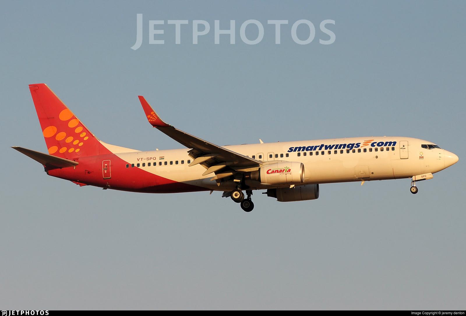 VT-SPQ - Boeing 737-8GJ - SmartWings (SpiceJet)