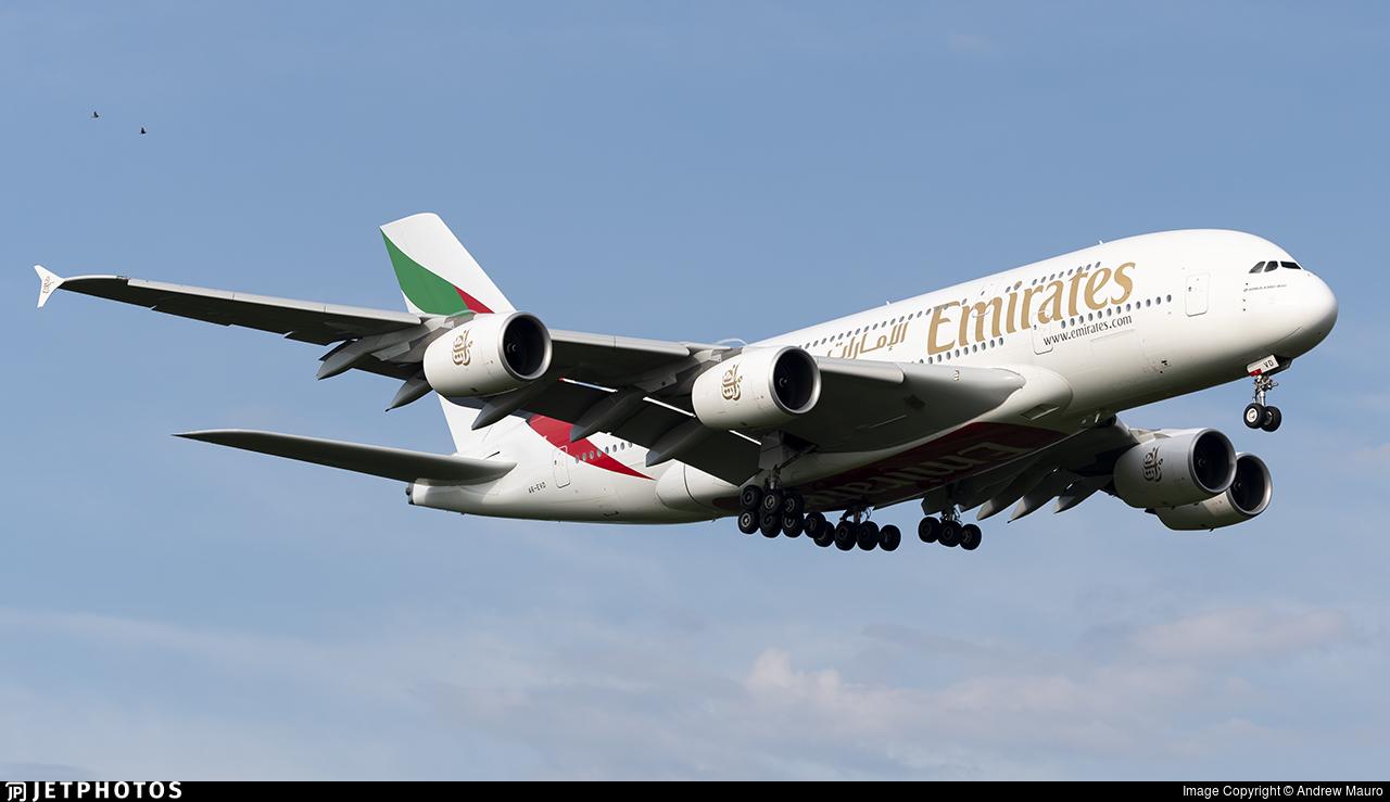 A6-EVD - Airbus A380-842 - Emirates