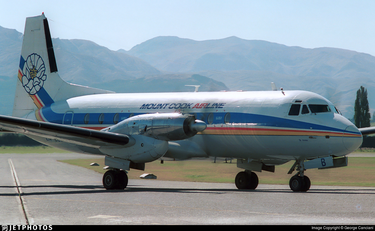 ZK-MCB - Hawker Siddeley HS-748 Series 2A - Mount Cook Airlines