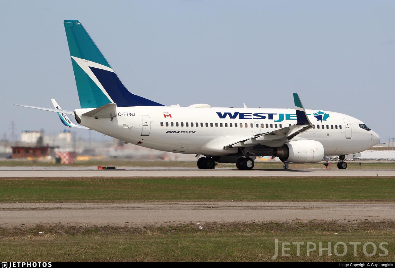 C-FTWJ - Boeing 737-7CT - WestJet Airlines